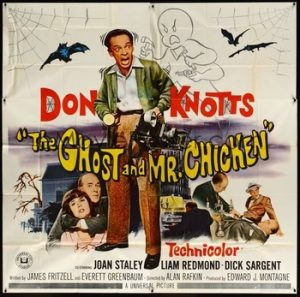 Wednesday Halloween Double Feature Haunted Houses the ghost and Mr Chicken