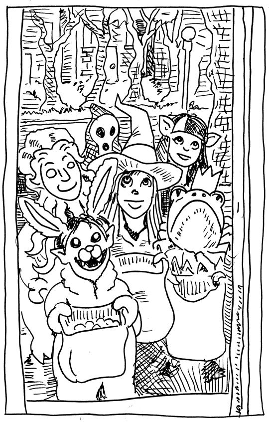 Inktober ends with a picture of some possibly sweet trick or treaters.