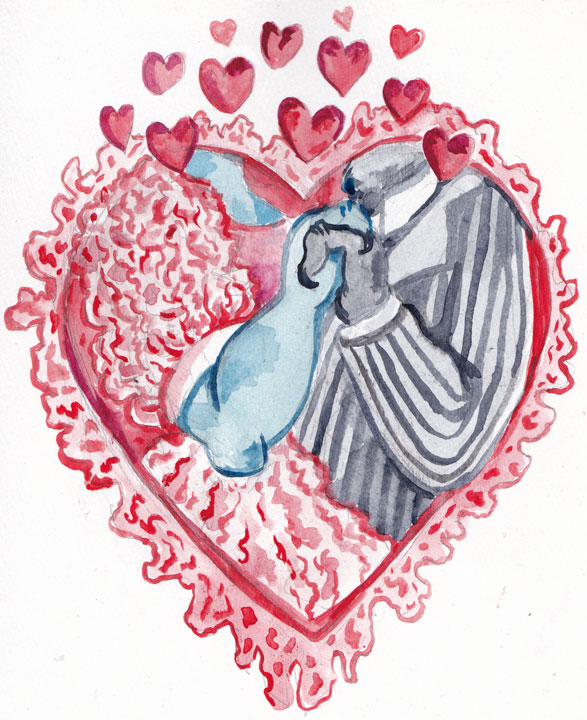 A Rhapsodies Valentine to honor the marriage of Mr. Large Hideous Bull Creature and Ms. Intimidating Cow Monster!