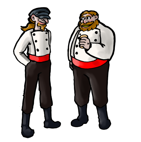 A Character sketch of the Brothers Claus, Ray and Lesley, Santa's two oldest sons.
